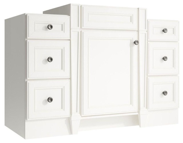 Cardell Cabinets Norton 48 in. W x 21 in. D x 34.5 in. H Vanity ...