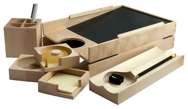 Maple wood desk accessories home decor by a r - Decorative desk organizers ...