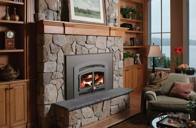 Bowdens wood burning fireplace inserts fireplace for Modern wood burning insert