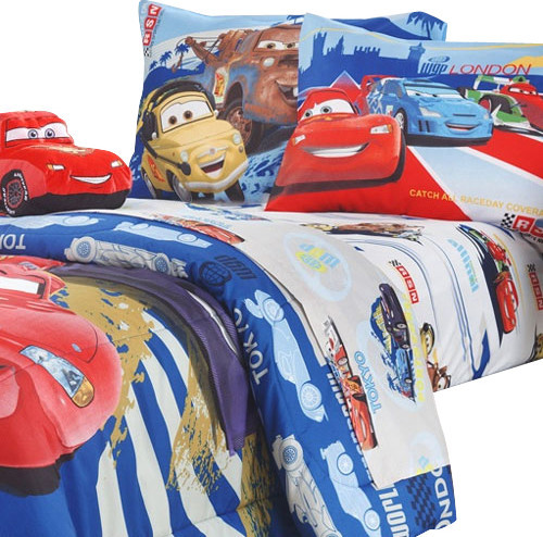 disney cars track burn twin single bedding sheet set