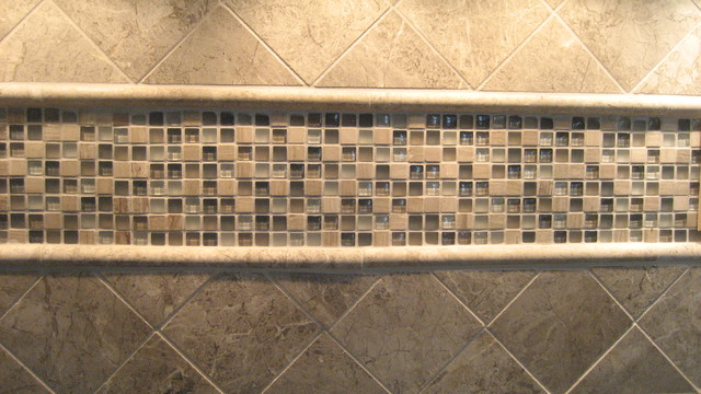 glass tile backsplash bathroom cleveland by