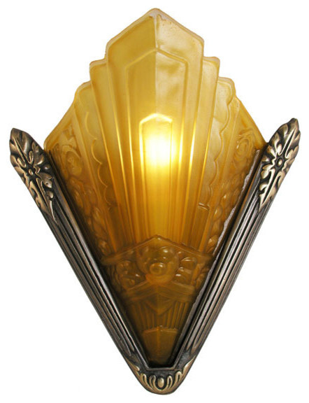 Recreated Marseilles French Art Deco Slip Shade Sconce