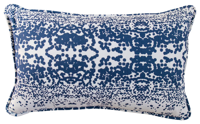 stardust indigo 12x20 pillow cover and insert bord de mer coussin par hen house linens. Black Bedroom Furniture Sets. Home Design Ideas