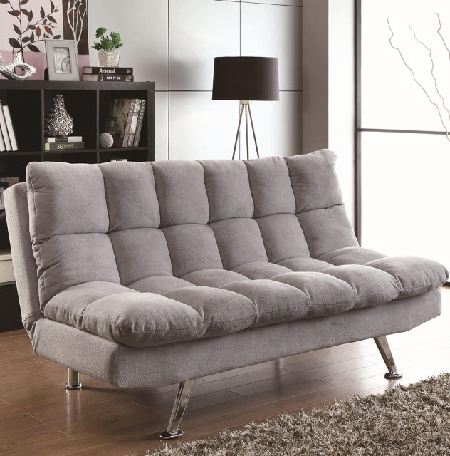 Coaster Light Grey Sofa Bed 500775 Modern Sofas