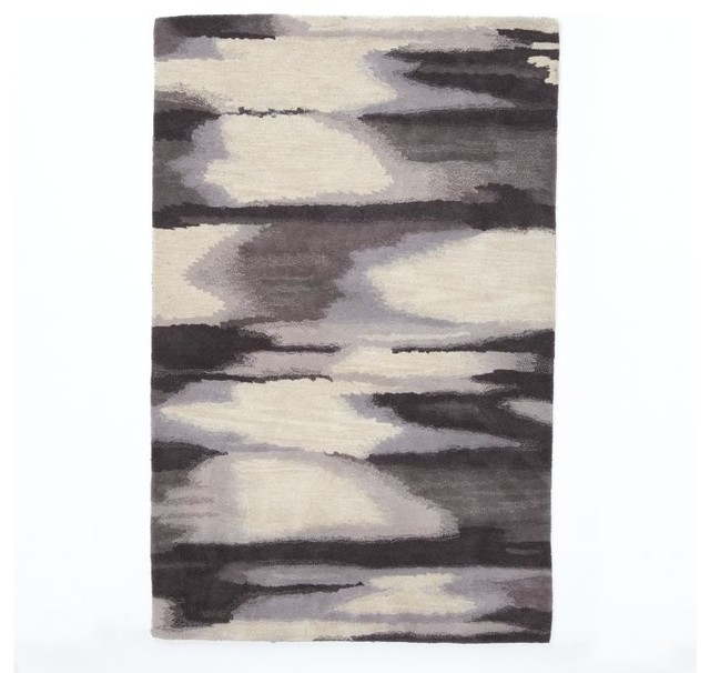 West Elm Blue And White Rug: West Elm - Contemporary - Rugs - By West Elm