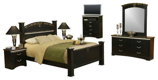 La Jolla Morena 6 Piece Bedroom Set Queen Traditional