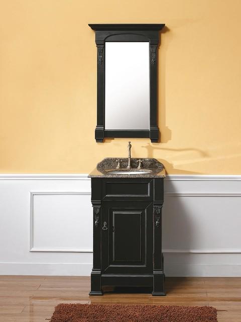 """24"""" Lugano Single Bath Vanity - Antique Black - Classico - Tolette e consolle per il bagno - san ..."""