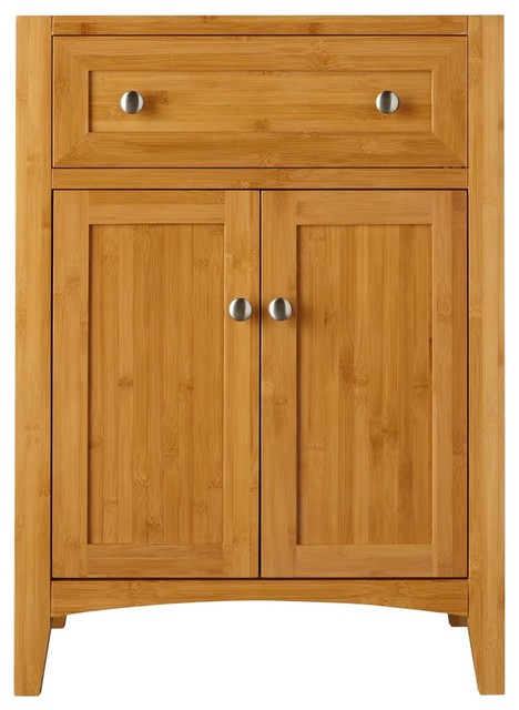 24 Narrow Halifax Bamboo Vanity Cabinet Only Modern