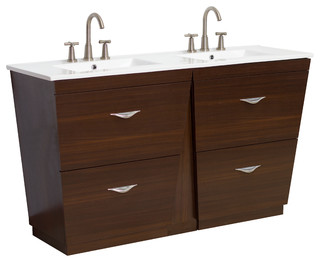 Vanity Light Bar Menards : Plywood-Melamine Vanity Set, Wenge, 48
