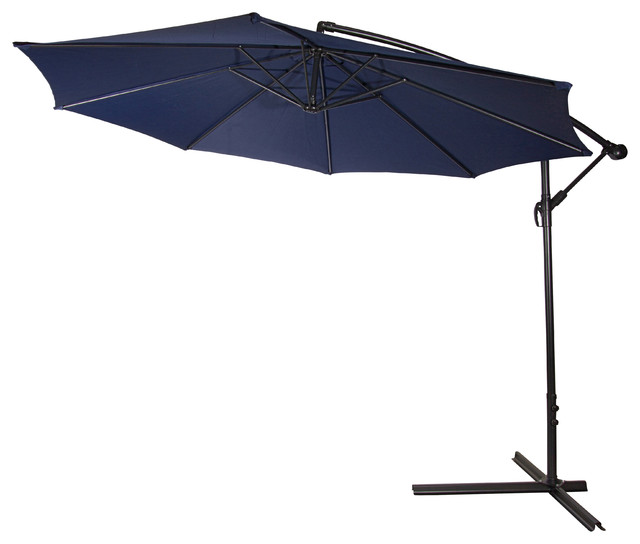 10 39 deluxe polyester offset patio umbrella blue