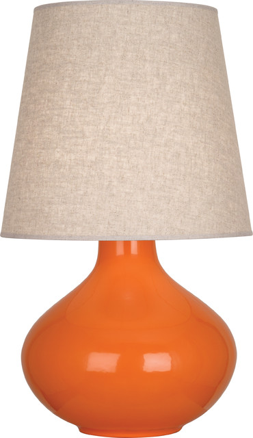robert abbey june table lamp pumkin contemporary table lamps by