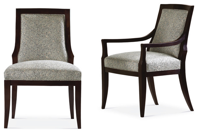 accent chairs for dining room clarity photographs | Vienna Upholstered Chair - Baker Furniture - Contemporary ...