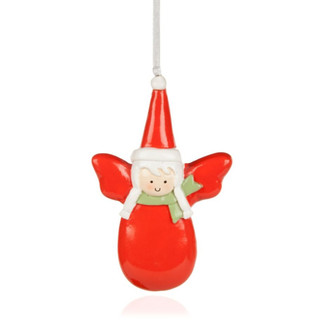 Red angel tree decoration contemporary christmas for B q christmas decorations