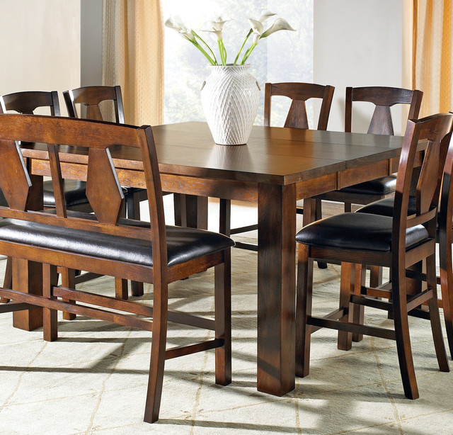 Steve Silver Lakewood Counter Height Table W Leaf Contemporary Dining Tables By Beyond Stores