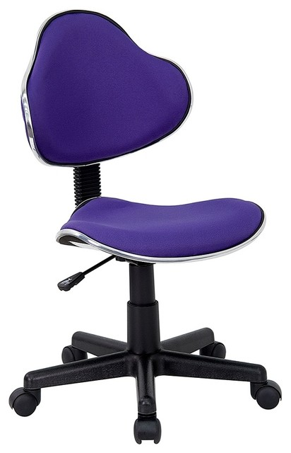 rolling office chair in deep purple contemporary office chairs