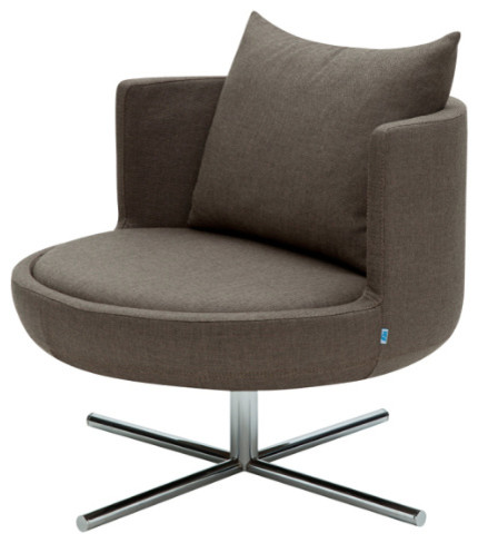 Round Lounge Chair Silcoates Gray Wool Modern Armchairs Accent Cha