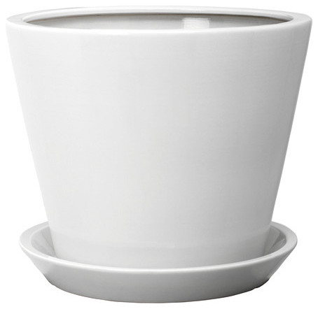 Tross plant pot with saucer white traditional indoor pots and planters by ikea - Indoor plant pots with saucers ...