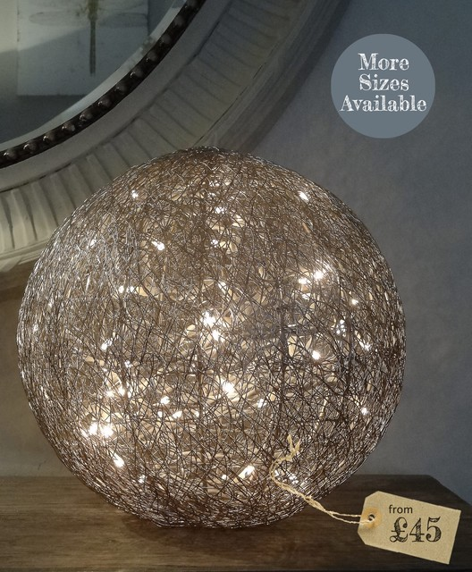 Wire Ball Table Lamp Modern Table Lamps By The Olive