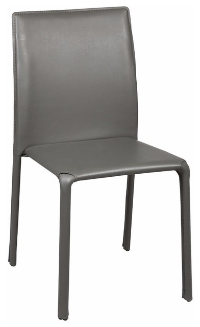 Chaise diva en pvc gris contemporary dining chairs - Chaise kubu gris ...