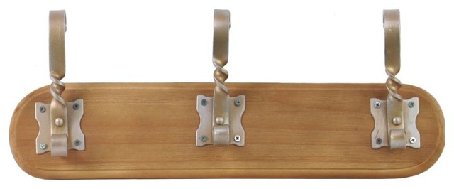 Small Wall Hanger Brown Finish Contemporary Clothes Hangers By