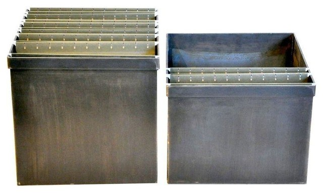Pre-owned Steel Hanging File Box - A Pair - Industrial ...