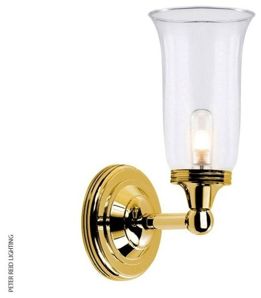 Austen 2 brass bathroom wall light traditional for Traditional bathroom wall lights
