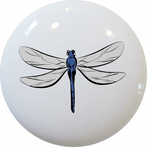 Dragonfly Ceramic Cabinet Drawer Knob - Contemporary - Cabinet And Drawer Knobs - by Carolina ...