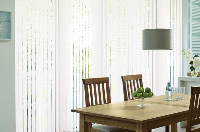 Textured Plain White Vertical Blinds Modern Vertical