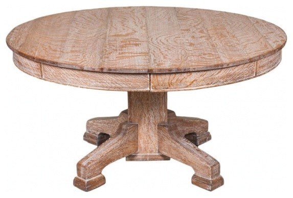 Limed oak circular dining table rustic dining tables by ecofirstart - Limed oak dining tables ...