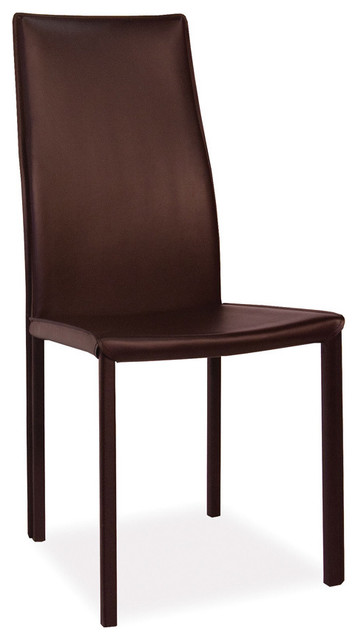 dark brown leather dining chairs set of 2 contemporary dining chairs