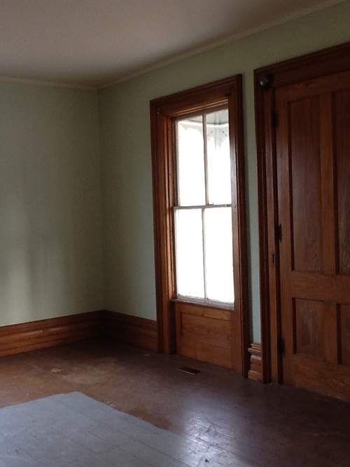 need paint color to compliment chestnut wood trim. Black Bedroom Furniture Sets. Home Design Ideas