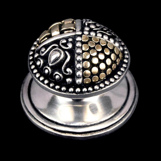 Medici, Round Knob in Two-Tone Finish - Modern - Cabinet And Drawer Knobs - phoenix - by Vicenza ...