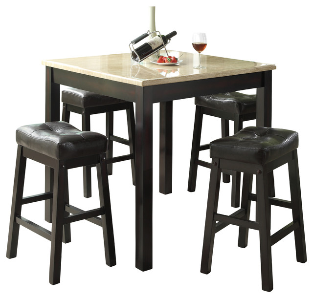 dining set contemporary indoor pub and bistro sets by monarch