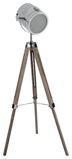 Adjustable tripod spotlight floor lamp industrial floor lamps - Tripod spotlight table lamp ...