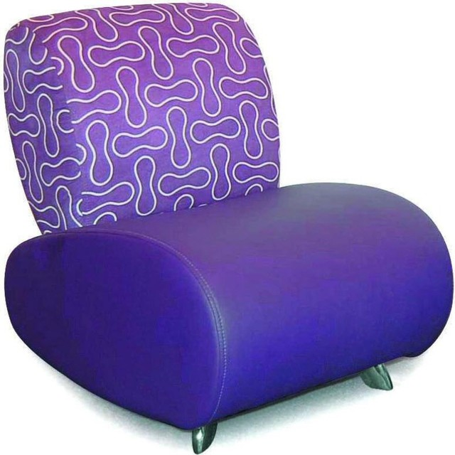 Purple graphic sofa contemporary kids sofas by in mode for Button tufted chaise settee velvet aubergine