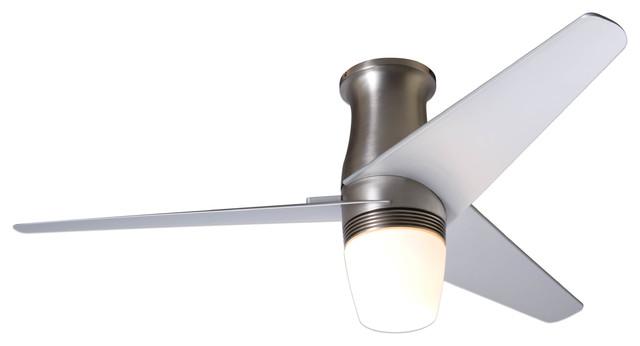 Modern fan company velo hugger bright nickel 50 ceiling fan with cfl light modern ceiling - Modern ceiling fan with bright light ...