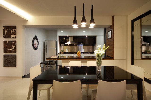 Modern Apartment In Singapore With A Clean Design Modern Kitchen Other Metro By