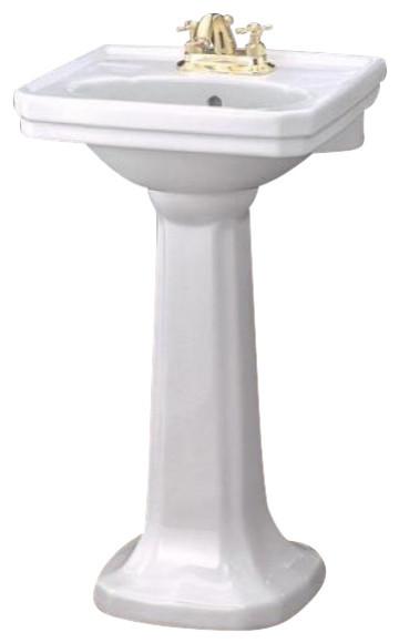Mayfair Pedestal Sink, 20x16 - Traditional - Bathroom Sinks - by ...