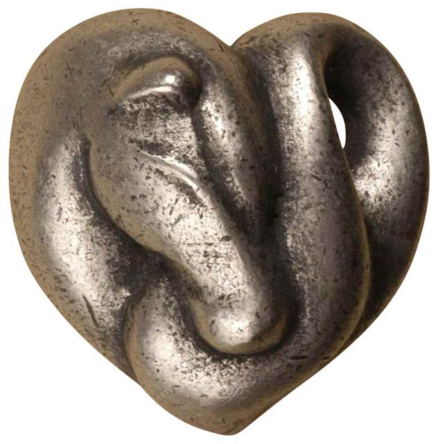 Ponytails Knobs, Set Of 10, Antique Copper