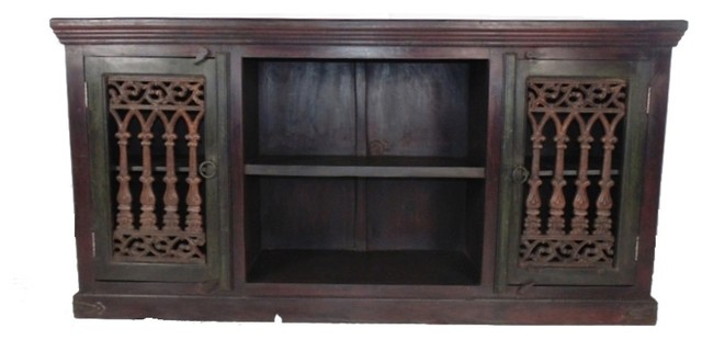2 Door Iron Jali Plasma - Media Cabinets - by Meva