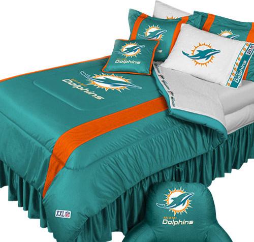 Miami Dolphins King Size Bedding