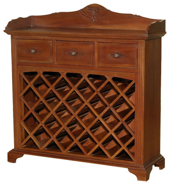 ... Wine Bar Rack - Traditional - Wine And Bar Cabinets - by MBW Furniture