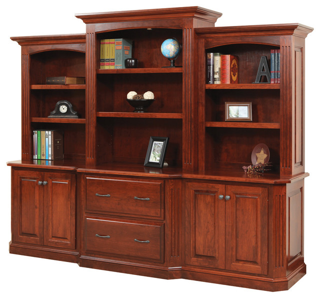 Cavalier Deluxe Executive Bookcase Traditional Home Office Furniture Other Metro By