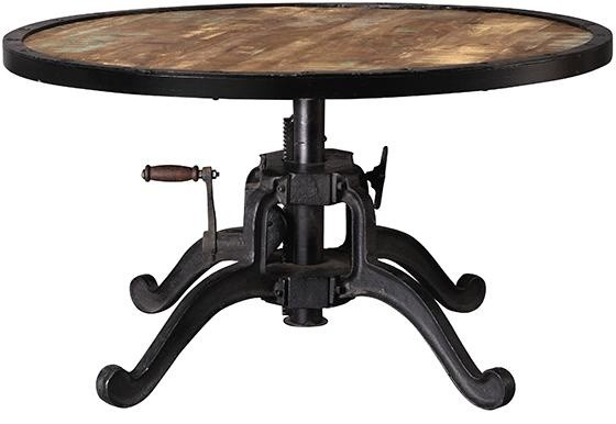 Industrial adjustable height coffee table natural Eclectic coffee table makeovers