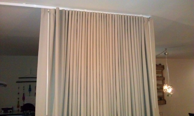 Curtains Ideas Curtain Rod Room Divider : Room Divider Curtain Track    Curtains Design Gallery