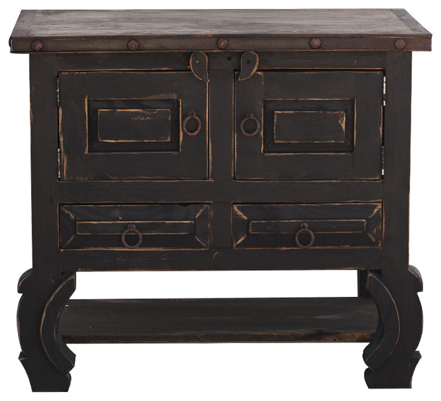 Distressed Black Vanity 36x20x32 Traditional Bathroom Vanities And Sink Consoles By