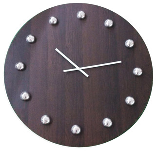 Oversized wooden gallery wall clock 30 modern wall - Oversized modern wall clock ...