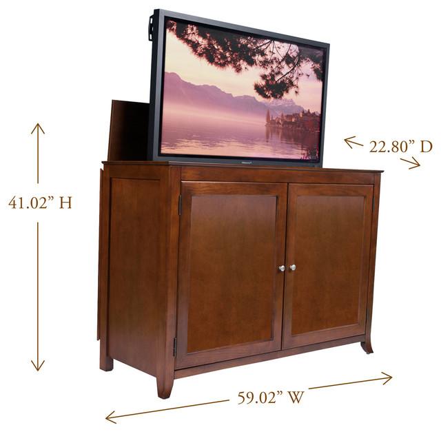 Berkeley tv lift cabinet for flat screen tv 39 s up to 55 for Tv lift consoles for flat screens