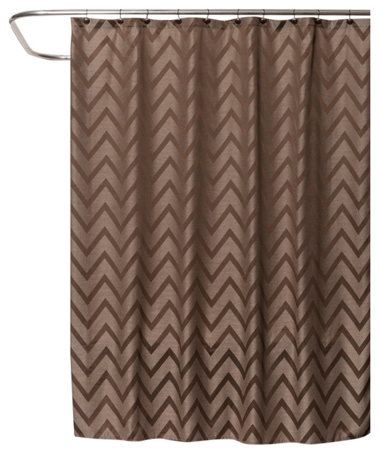 Saturday Knight Chevron Shower Curtain Brown Modern Shower Curtains By Saturday Knight
