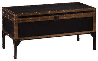 Upton Home Duncan Travel Trunk Cocktail Coffee Table Contemporary Coffee Tables By